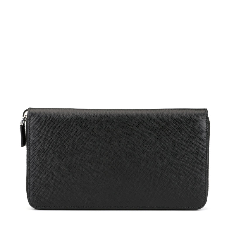 [CLEARANCE] - Saffiano Leather Zipped Long Wallet