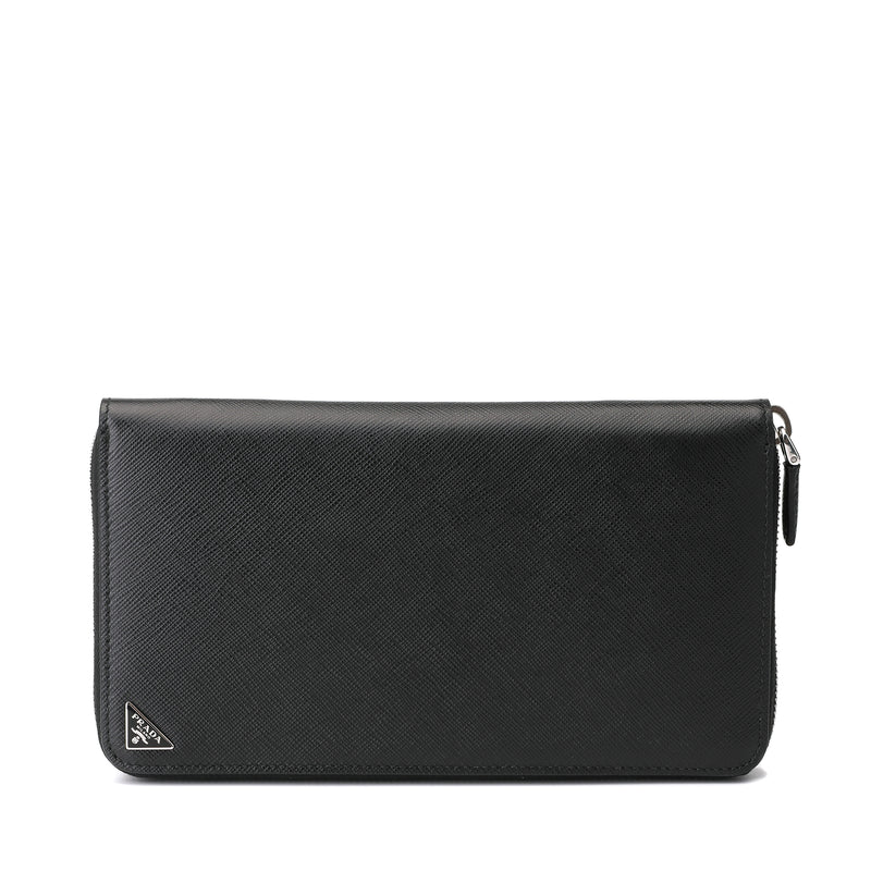 Prada Saffiano Leather Zipped Long Wallet