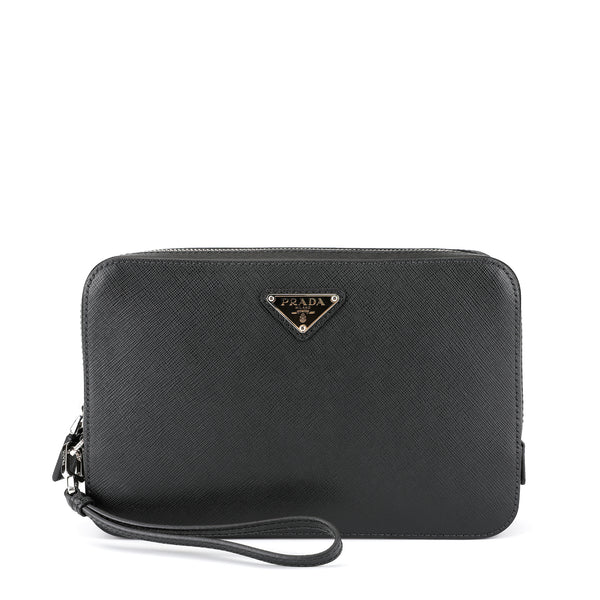 Prada Saffiano Leather Clutch