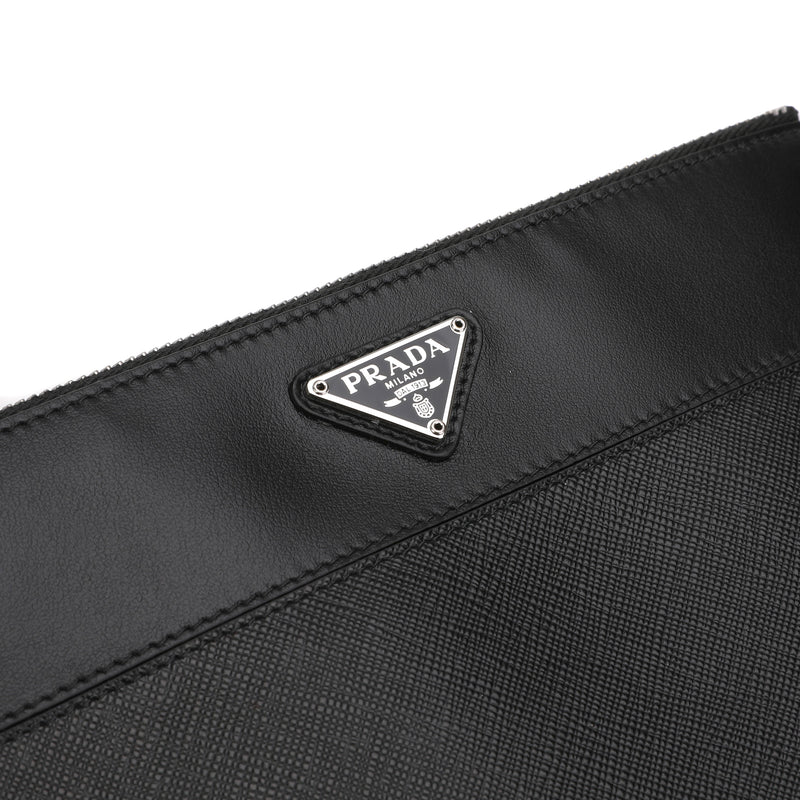 Triangle Logo Plaque Pouch
