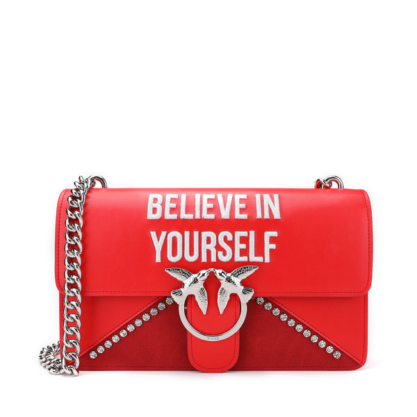 "Pinko Love ""BELIEVE IN YOURSELF"" Shoulder Bag"