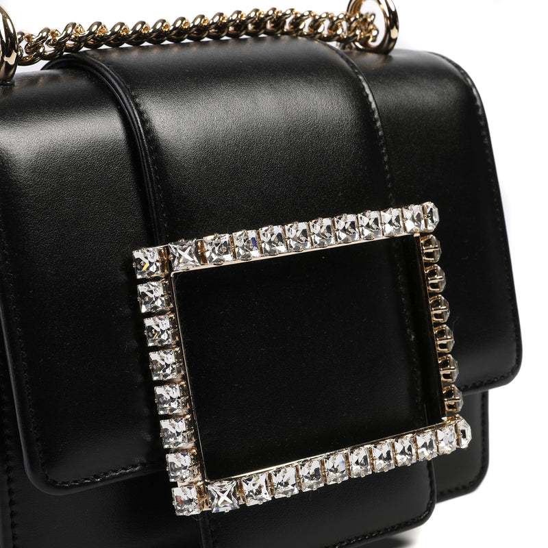 [CLEARANCE] - Très Vivier Duo Strass Buckle Bag