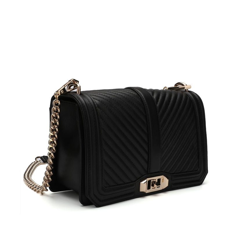 [CLEARANCE] - Chevron Quilted Love Crossbody