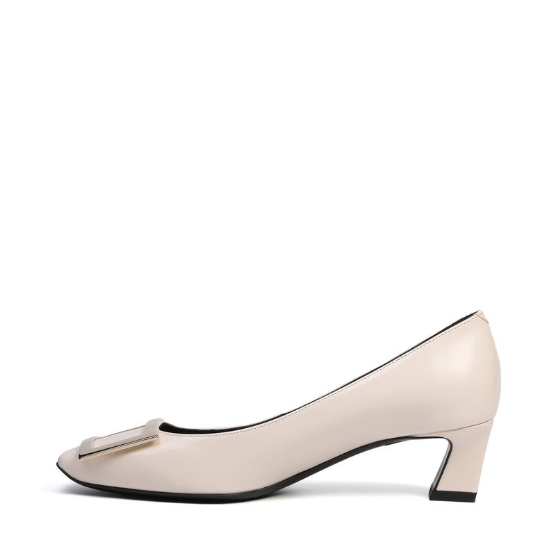 Belle Vivier Trompette Pumps in Leather