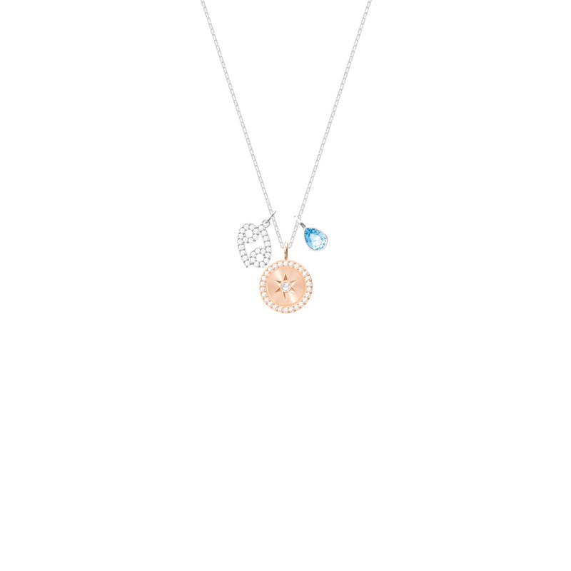 Swarovski Cancer Aqua Zodiac Pendant Necklace