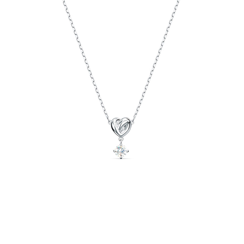 Rhodium-plated LifeLong Heart Pendant