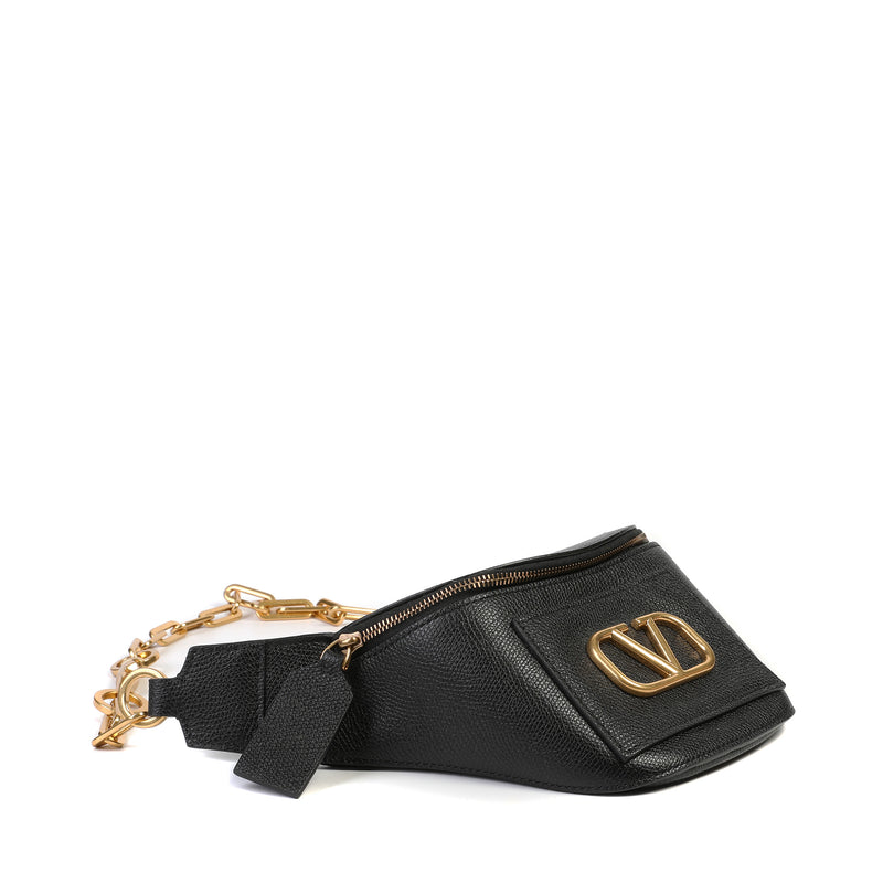 Black Valentino Garavani VLogo Belt Bag