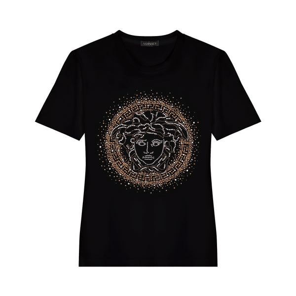 Versace Medusa Head Studded T-Shirt