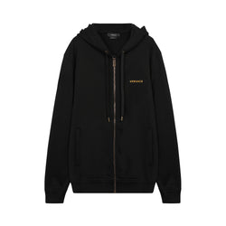Logo Embroidered Zip-Up Hoodie