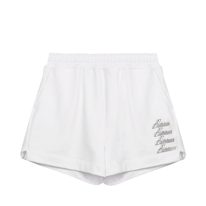 Metallic logo print shorts