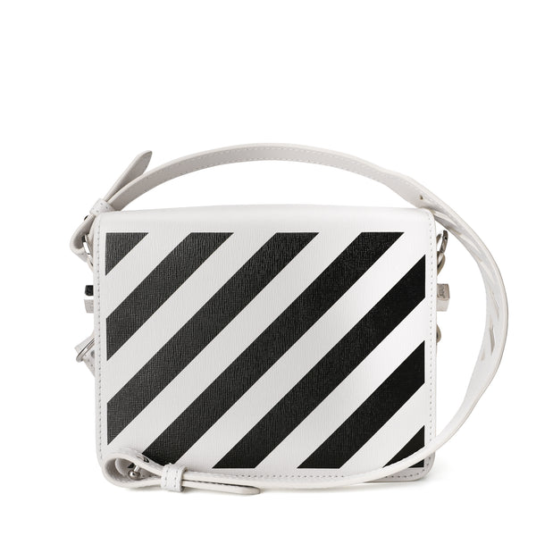 White Diag Flap Bag