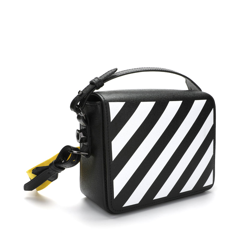 [CLEARANCE]-Black Diag Flap Bag