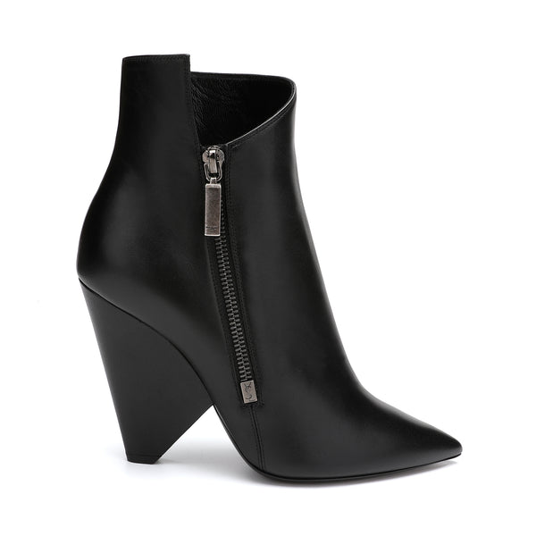 Saint Laurent Niki 105 Zipped Leather Ankle Boots
