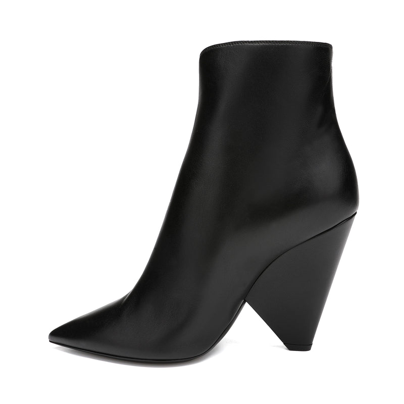 [CLEARANCE] - Niki 105 Zipped Leather Ankle Boots