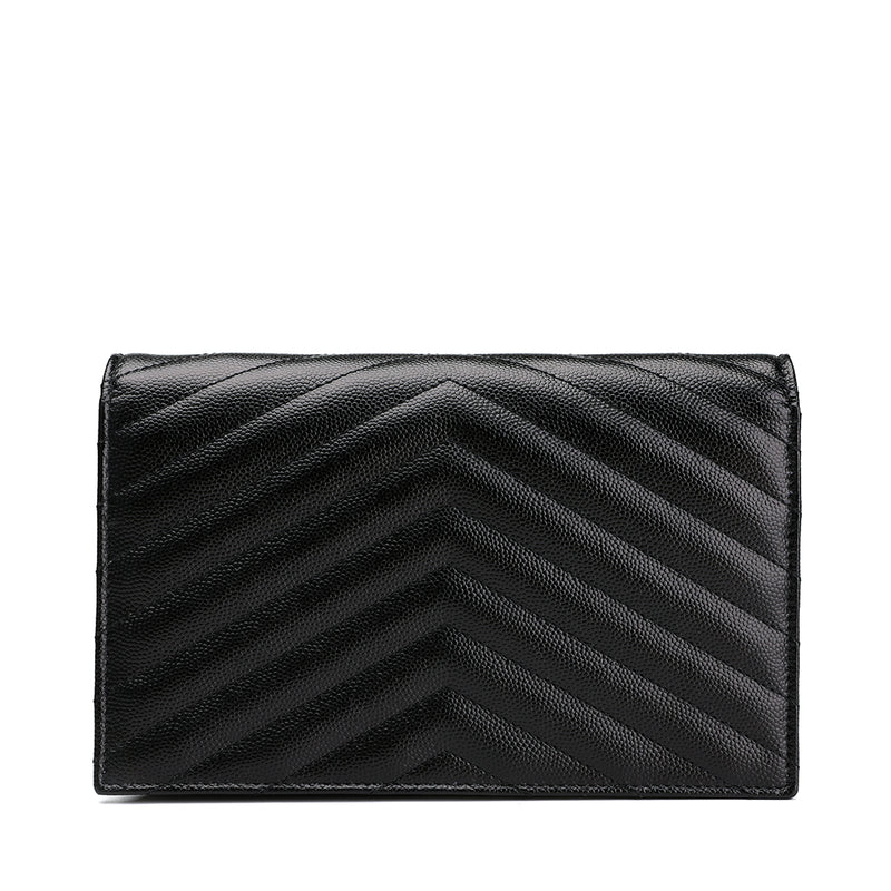 Saint Laurent Classic Monogram Saint Laurent Flap Front Chain Wallet