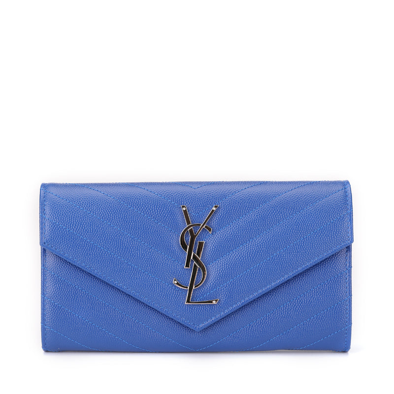 Saint Laurent Large Monogram Saint Laurent Flap Wallet