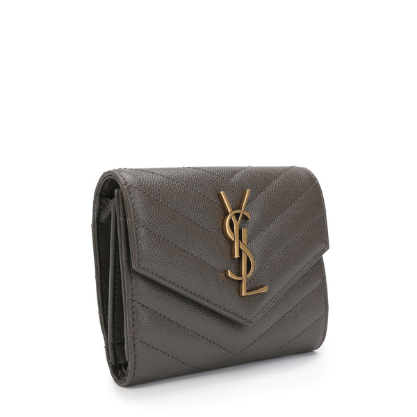 Monogram Flap Wallet