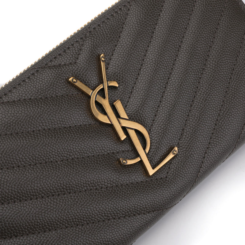 Full Zip Monogram Wallet
