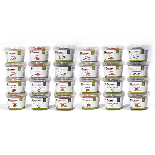 Stack of 24 Baby Food Products - Baby Food Starter Pack 24 - The Baby Pantry