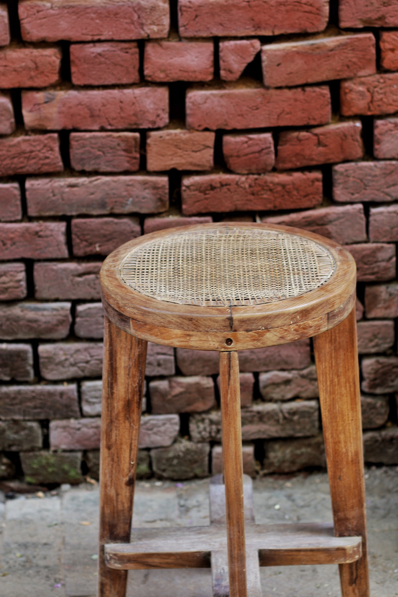Cane Wooden Stool