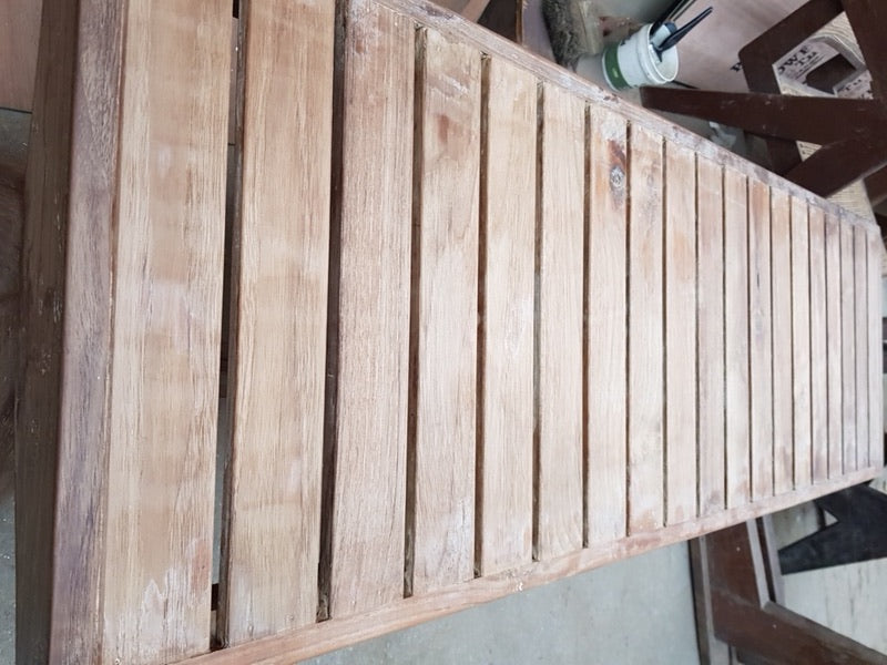 Wooden Slatted Bench