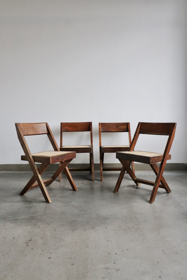 Set of 5 1950's library chairs