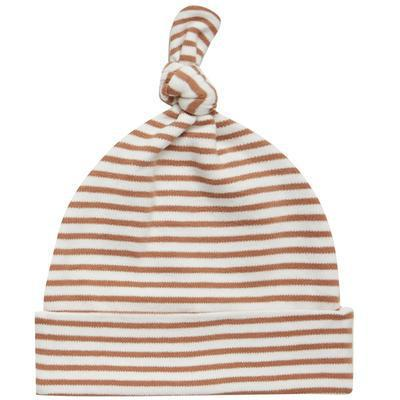 Quincy Mae Rust Stripe Baby Hat