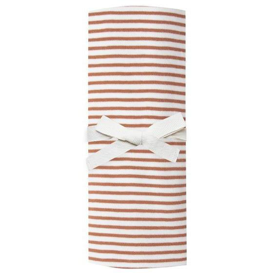 Quincy Mae Rust Stripe Baby Swaddle