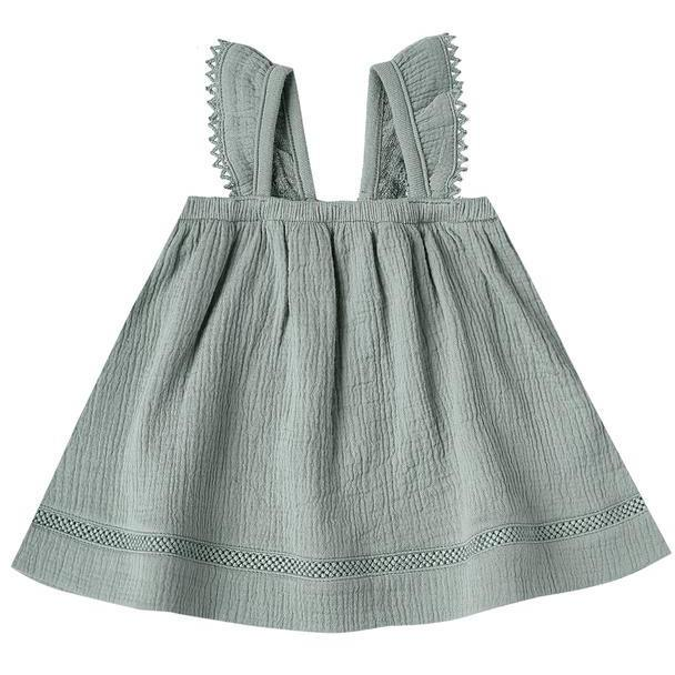 Quincy Mae Ocean Ruffled Tube Dress