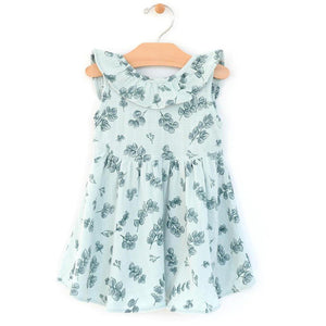 City Mouse Muslin Flutter V-Back Dress - Eucalyptus