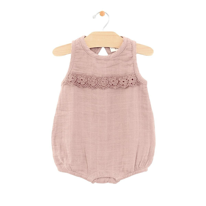 City Mouse Muslin Lace Bubble - Dusty Mauve