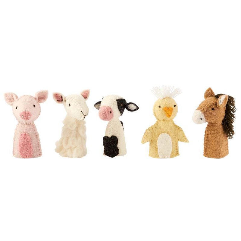 Mud Pie Barnyard Finger Puppets