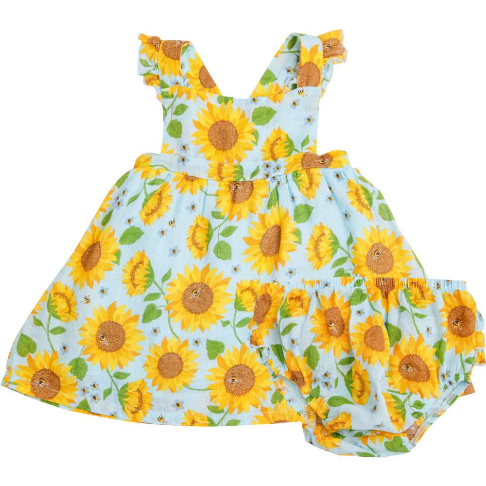 Angel Dear Sunflowers Pinafore Top & Bloomer