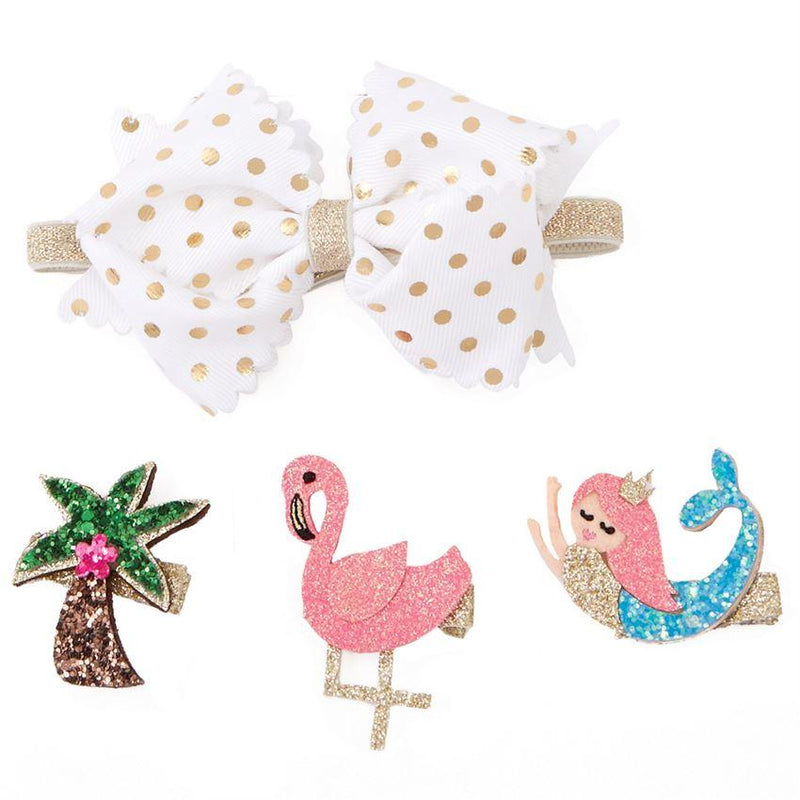 Mud Pie Mermaid 3-1 Bow Set