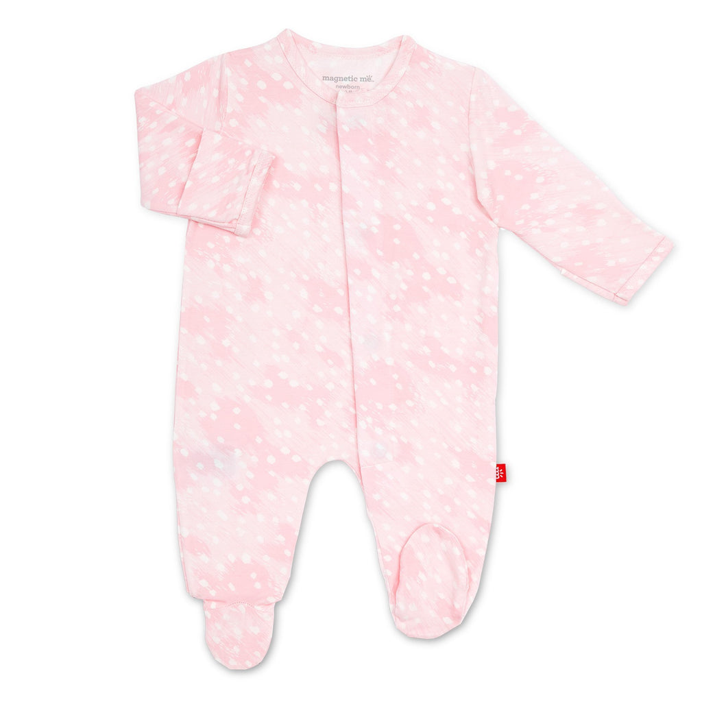 Magnetic Me Pink Doeskin Modal Magnetic Footie