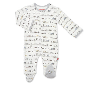 Magnetic Me Dig In Organic Cotton Footie