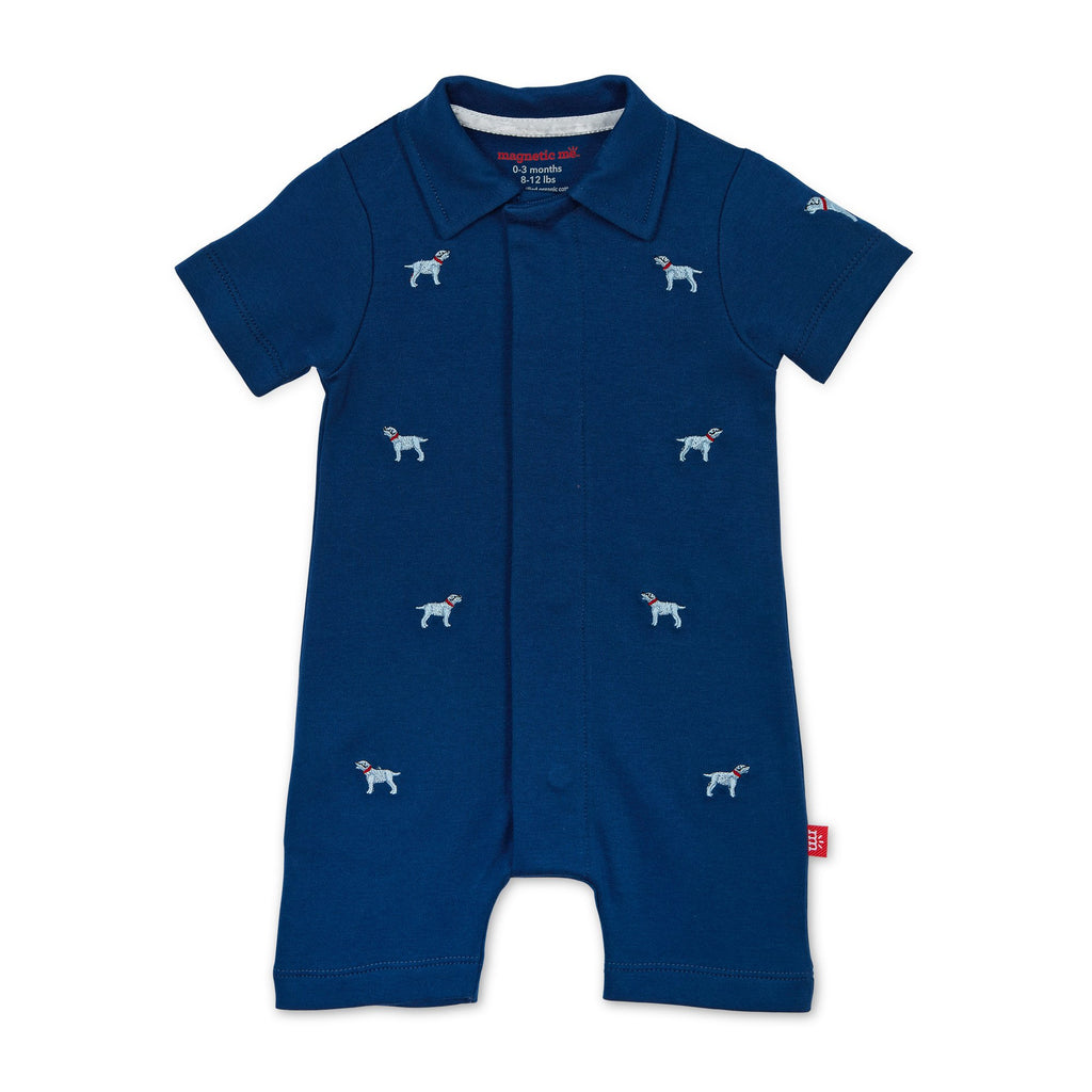 Magnetic Me Best in Show Organic Cotton Polo Romper