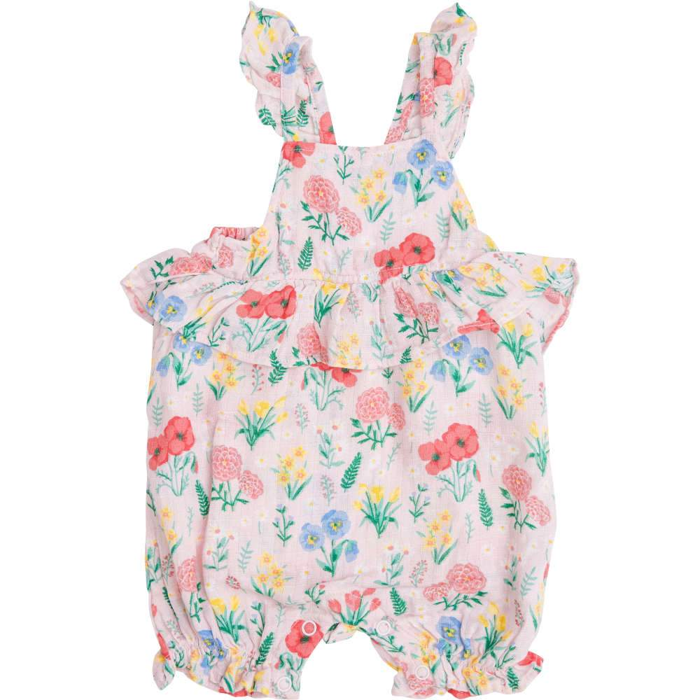Angel Dear Summer Floral Ruffle Empire Waist Shortie Romper