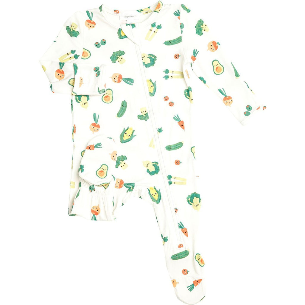 Angel Dear Healthy Greens Zipper Footie