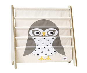 3 Sprouts Book Rack in Owl/Gray