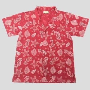 Almirah Boy Shirt Print Coral Red