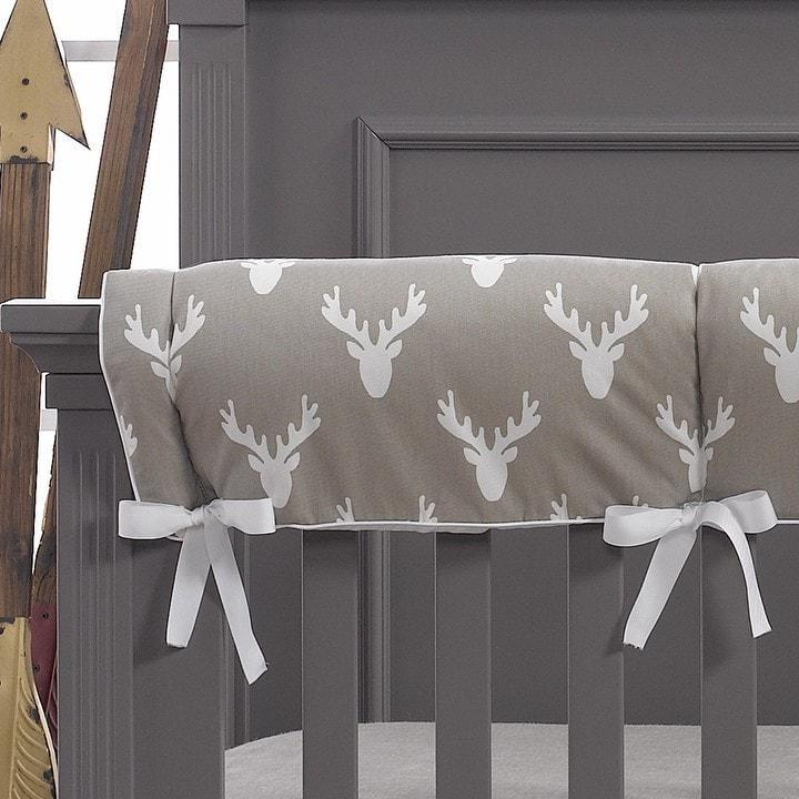 Liz & Roo Buck Woodland (Taupe) Crib Rail Cover