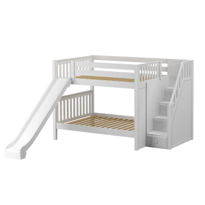 Maxtrix Full Medium Bunk Bed with Stairs + Slide