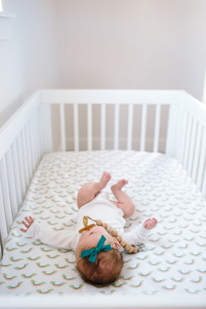 Copper Pearl Cotton Fitted Crib Sheet - Daydream