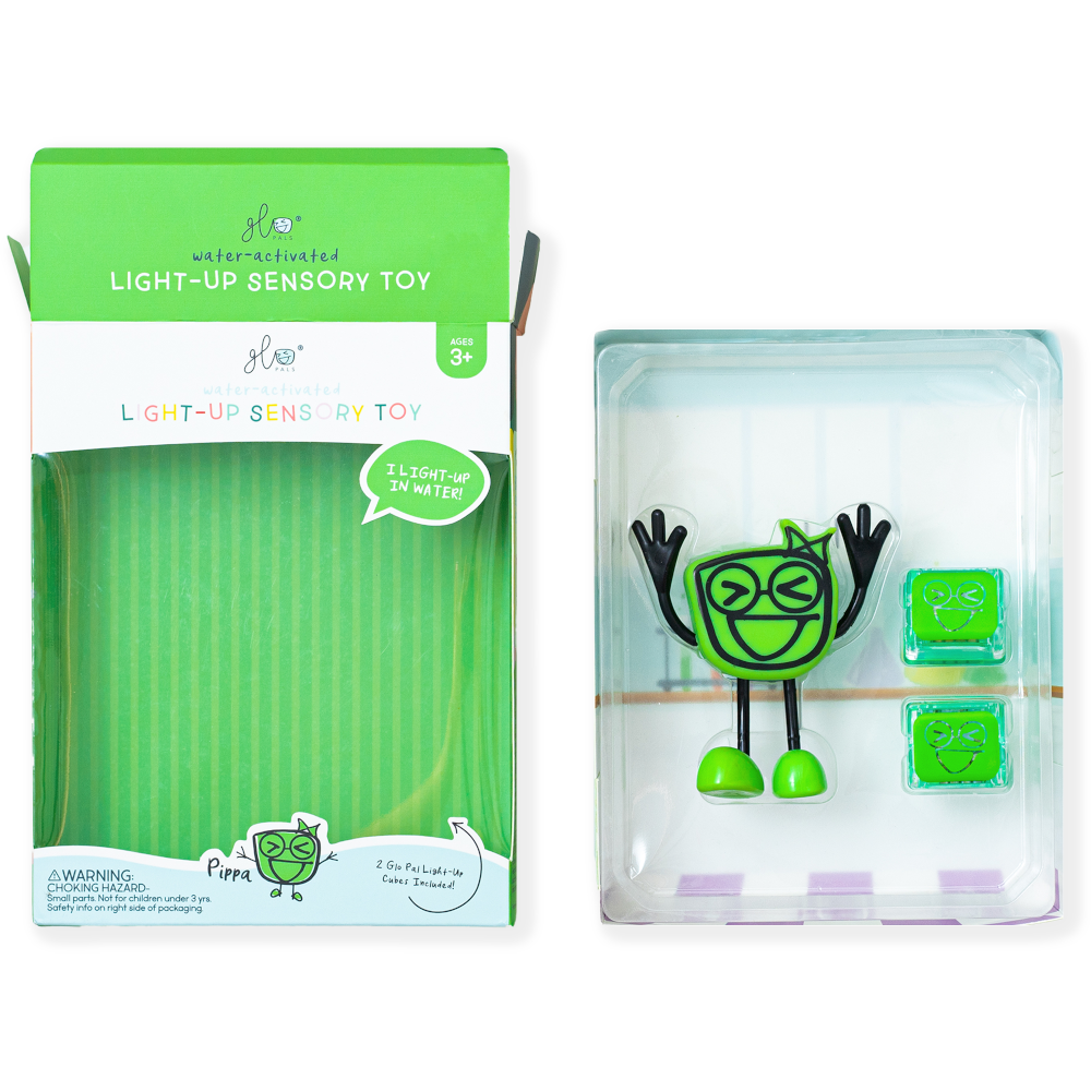 Glo Pals Pippa Character with 2 Light-Up Cubes
