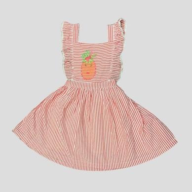 Almirah Pinafore Red Stripe Infant Dress