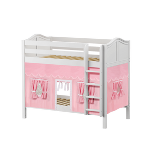Maxtrix Twin Medium Bunk Bed with Straight Ladder + Curtain