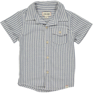 Me & Henry Blue/White Stripe Shortsleeve Shirt
