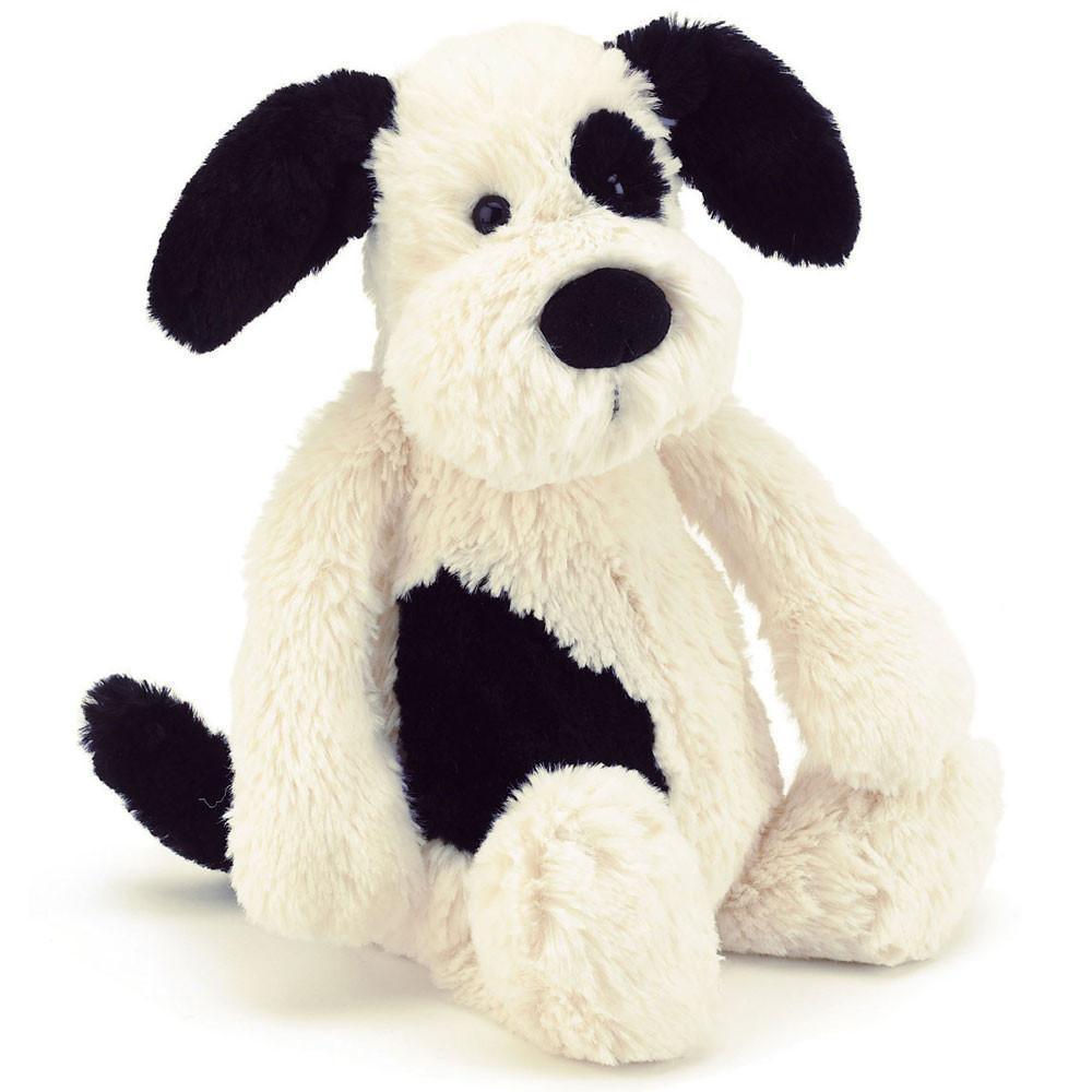 Jellycat Bashful Black & Cream Puppy