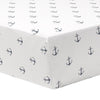 Liz & Roo Nautical Sailboat Bumperless Crib Bedding 4-pc. Set